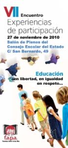 Séptimo encuentro de experiencias de participación de Asociaciones de Madres y Padres.