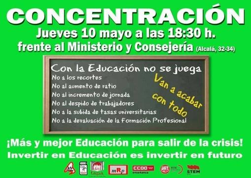 CONCENTRACION 10 MAYO 2012